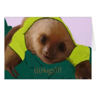 Baby Sloth in Pajamas Card