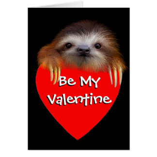 Baby Sloth Let's Hang Out Valentine Card