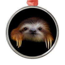 Baby Sloth Metal Ornament