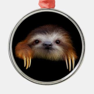 Baby Sloth Metal Ornament