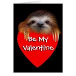 Baby Sloth Valentine Card