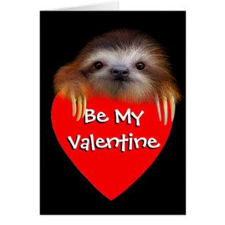 Baby Sloth Valentine Card at Zazzle