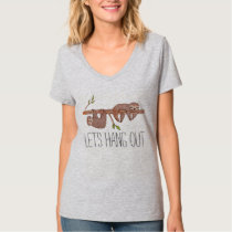 Baby Sloths hanging on Tree Pattern T-Shirt