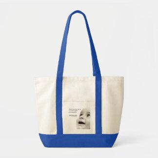 Baby Smiles Impulse Tote Bag- blue Impulse Tote Bag