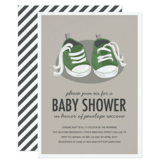 Baby Sneakers Shoes Invitation