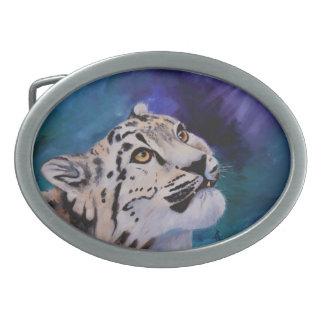 Baby Snow Leopard Belt Buckle