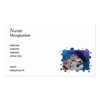 Baby Snow Leopard Bubbles Business Card