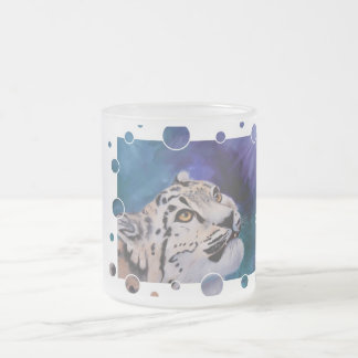 Baby Snow Leopard Bubbles Frosted Mug