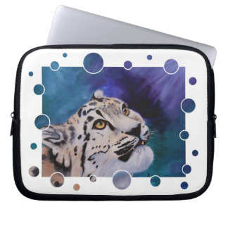 Baby Snow Leopard Bubbles Laptop Computer Sleeves