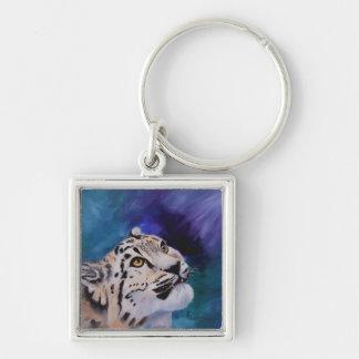 Baby Snow Leopard Keychain