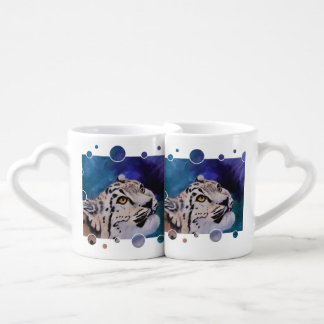 Baby Snow Leopard Lovers Mug Set