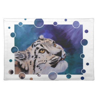 Baby Snow Leopard Placemat Cloth Placemat