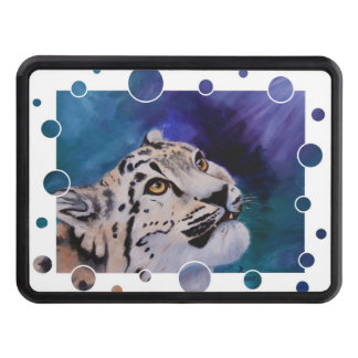 Baby Snow Leopard Trailer Hitch Cover