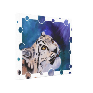 Baby Snow Leopard Wrapped Canvas Gallery Wrapped Canvas