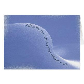baby snowdrift greeting card