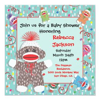 Sock Monkey Baby Shower Invitations Announcements Zazzle