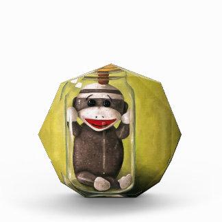 Baby Sock Monkey  Preserving Childhood 5 Acrylic Award