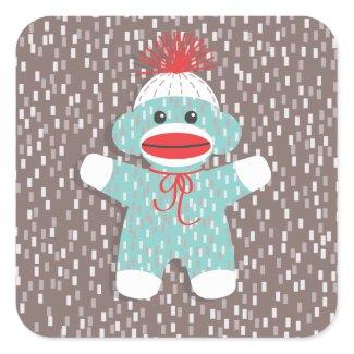 Baby Sock Monkey Sticker sticker