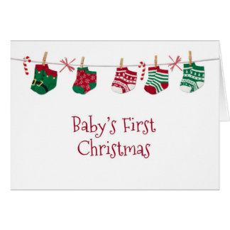 Baby Socks, Baby's 1st Christmas Card