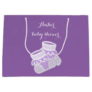 baby socks - purple large gift bag