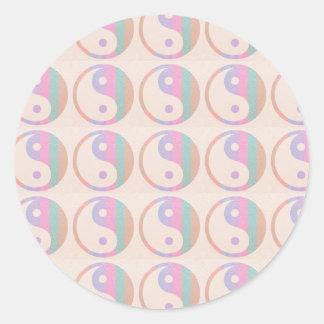 Baby Soft Silken Spectrum  : YINYANG YIN YANG Classic Round Sticker