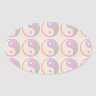 Baby Soft Silken Spectrum  : YINYANG YIN YANG Oval Sticker