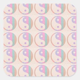 Baby Soft Silken Spectrum  : YINYANG YIN YANG Square Sticker