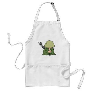 Baby Soldier Adult Apron