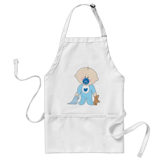 Baby Soother Boy Adult Apron
