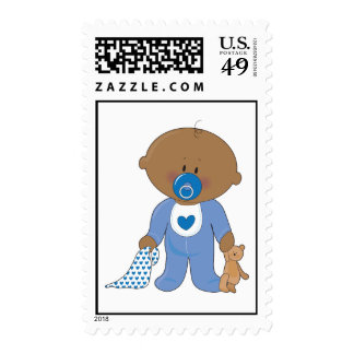 Baby Soother Boy Black Postage