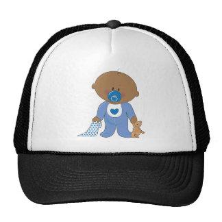 Baby Soother Boy Black Trucker Hat