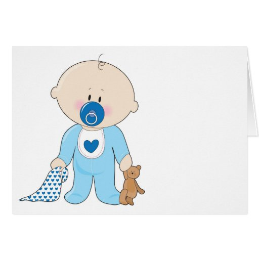 Baby Soother Boy Card