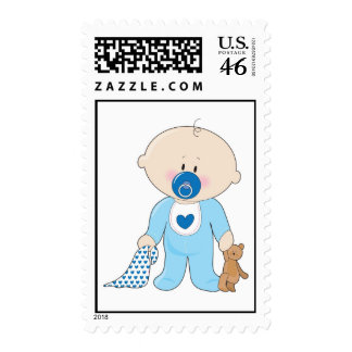 Baby Soother Boy Postage Stamps