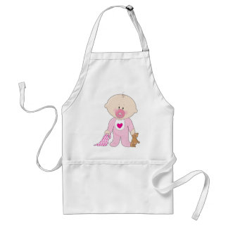 Baby Soother Girl Adult Apron