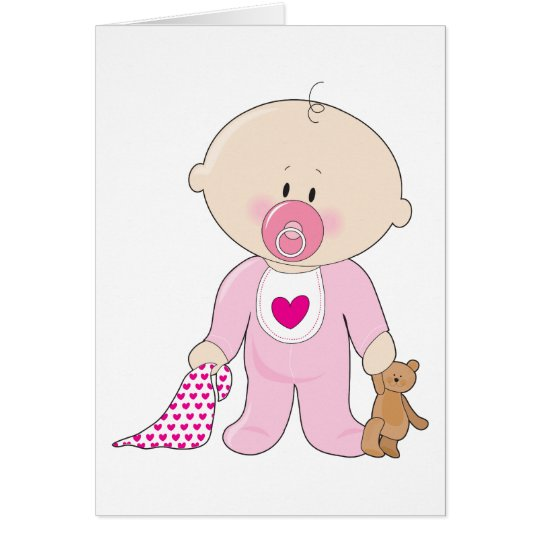 Baby Soother Girl Card