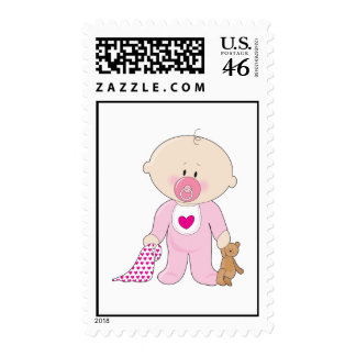 Baby Soother Girl Stamps