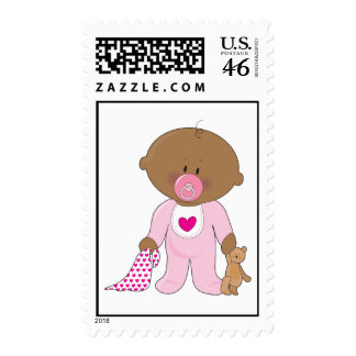 Baby Soother Girl Postage Stamps