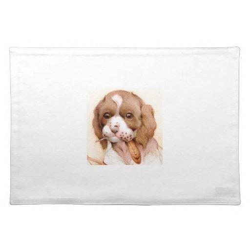 Baby Spaniel - SUPER CUTE ! Cloth Placemat