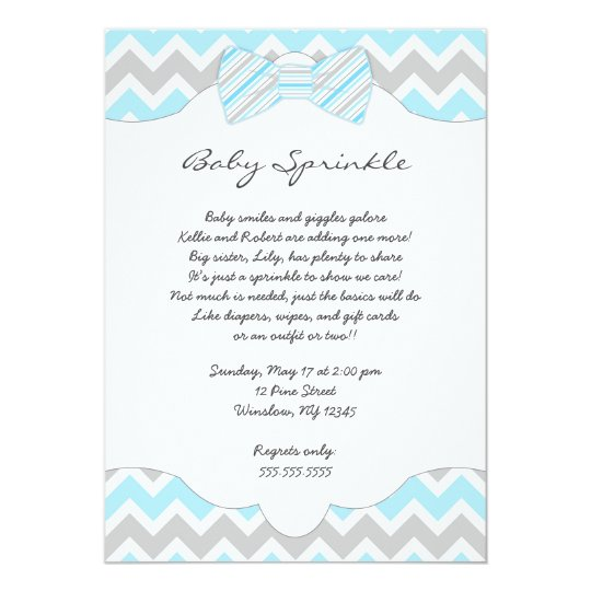 Baby sprinkle blue bow tie baby shower invites zazzle baby sprinkle blue bow tie baby shower invites filmwisefo