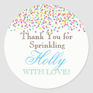 Baby Sprinkle Favor Stickers