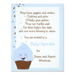 Baby Sprinkle In Blues Invitation Announcements