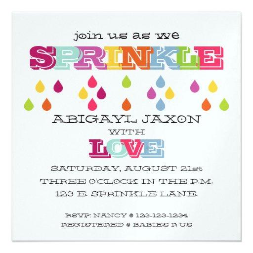 Baby Sprinkle Invite for luxury invitation sample