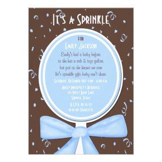 Baby Sprinkle Invitation -- Baby Boy Shower Invites