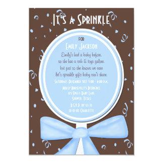 "Baby Sprinkle Invitation -- Baby Boy Shower 5"" X 7"" Invitation Card"