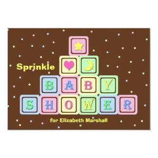 Baby Sprinkle Invitation -- Gender Neutral Shower Custom Invites