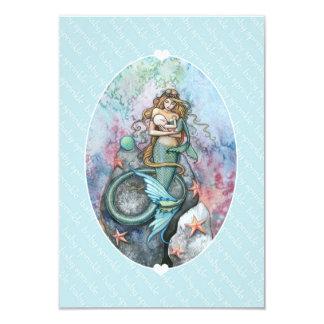 Baby Sprinkle Invite Insert Mermaid and Baby