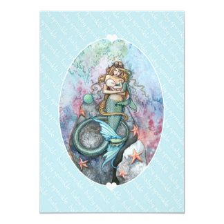 "Baby Sprinkle Invites Mermaid and Baby 5"" X 7"" Invitation Card"
