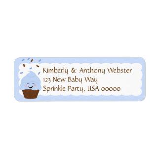 Baby Sprinkle Matching Blue Return Address Lable Label