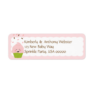 Baby Sprinkle Matching Pink Return Address Lable Label