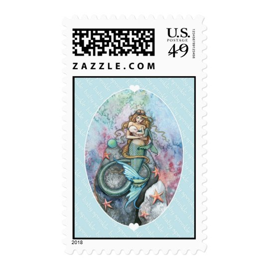 Baby Sprinkle Mermaid Mother and Baby Postage